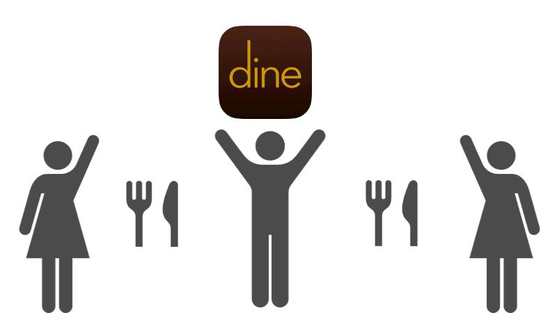 マッチングアプリがめんどくさいと感じたので、代わりにデーティングアプリのDine(ダイン)を使っているときのイメージ画像